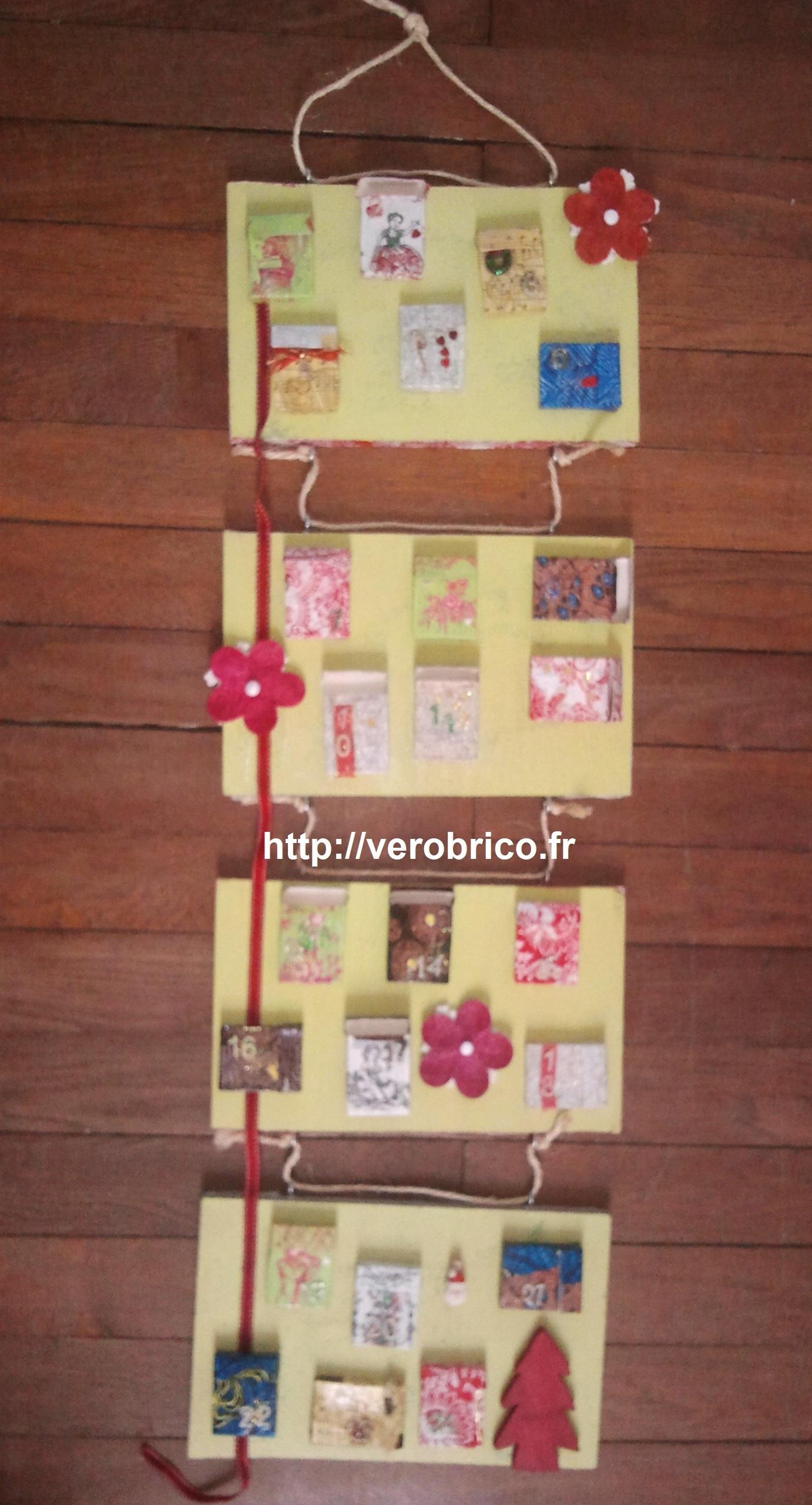 advent calendar, calendrier de l'avent, decoration de noel, diy noel