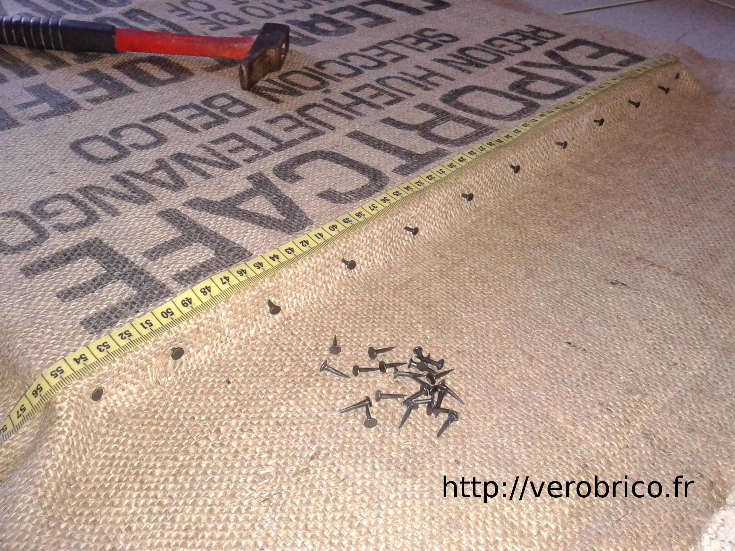 Sac À Patates Toile De Jute tableau mural en toile de jute | le coin bricolage de vérobrico